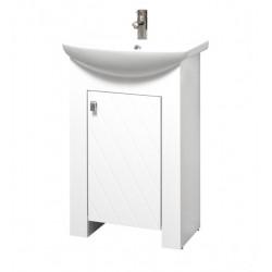 Долен PVC шкаф за баня с умивалник Коки Макена