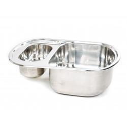 Мивка за кухня Алпака  620х490х180 дясна S6249PR