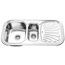 Мивка за кухня Алпака 1000х500х180мм лява SD10050RL