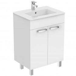 Долен шкаф за мивка Темпо 60 см / бял гланц