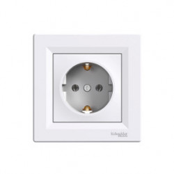 Единичен контакт Schneider EPH2900121 Asfora бял