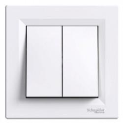 Електрически ключ Asfora схема 5 / бял