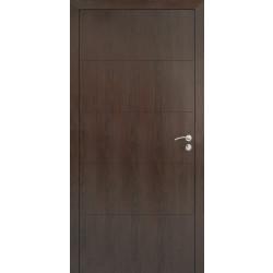 Интериорна врата 90/200 Тъмен орех плътна