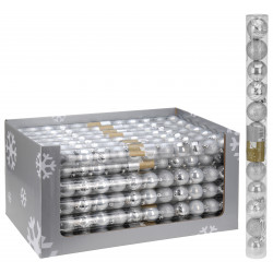 Коледни топки сребро 12X50MM
