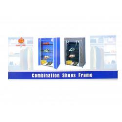 Шкаф за обувки текстил / 4 етажа
