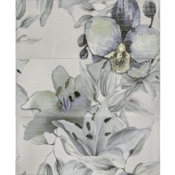 Стенни декоративни плочки пано IJ 500 x 600 Виола цветя зелени