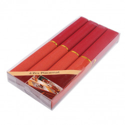 Комплект полиестерни подложки 40x35см оранжеви квадрати