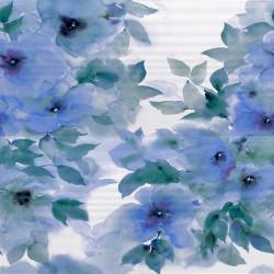 Стенна декорация за баня IJ 500 x 500 Вог акварел синя