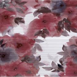 Стенна декорация за баня IJ 500 x 500 Вог акварел червена