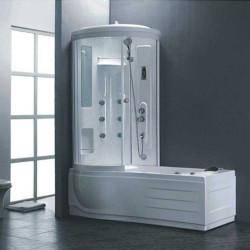 Хидромасажна вана с хидромасажна кабина 8018L, лява