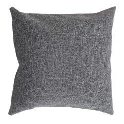 Декоративна възглавница с цип и пълнеж 43х43 см сива