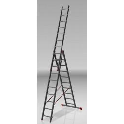 Алуминиева сертифицирана стълба NV 123 / 3x10 стъпала / 150 кг