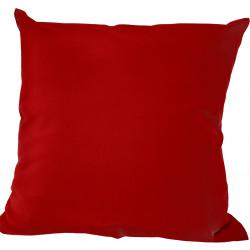 Калъфка за декоративна възглавница с цип 43х43см / червена