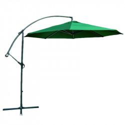 Градински алуминиев чадър, тип Банан, зелен / 300см