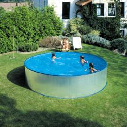 Метален басейн 350х90см с филтърна система