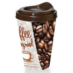Пластмасова чаша за кафе с капак 400ml / TZ-AP-9122
