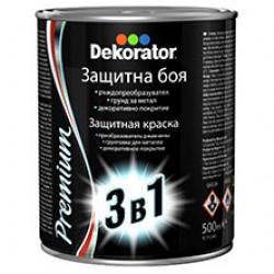 Алкидна боя 3 в 1 Декоратор сива 0.5л
