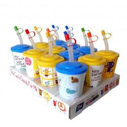 Детска чаша с капаче и сламка 400ml
