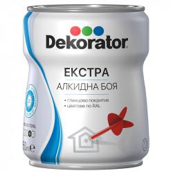 Екстра алкидна боя Декоратор RAL 9005 смолисточерна 650ml