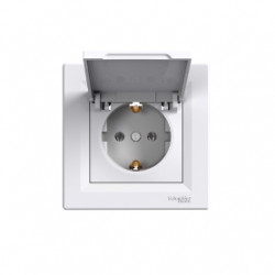 Електрически контакт с капак EPH3100121 Asfora бял