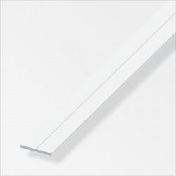 PVC плоска щанга 19.5 mm бяла