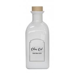 Бутилка за олио / зехтин с коркова тапа Mira 250мл бяла
