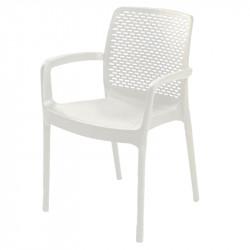 Градински PVC стол Sedir бял