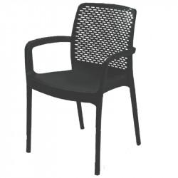 Градински PVC стол Sedir черен