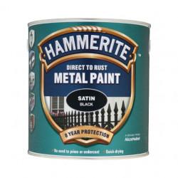 Боя за метал Hammerite сатен черен 750 мл