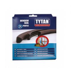 P-профил уплътнителна лента за прозорци и врати Tytan Professional - бял