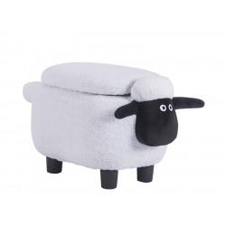 Табуретка ракла във формата на овца бяла