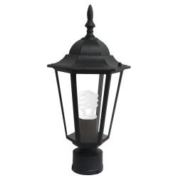 Градински фенер черен стоящ E27 60W IP33